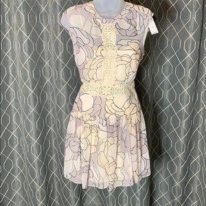 BCBG MaxAzria Aymeline Lace-Trim Print-Blocked